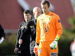 Viktor Noring na afloop van Strømmen IF - FK Bodø/Glimt. (22-9-2013)