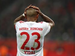 Vidal no podrá estar en las dos citas ante el Real Madrid. (Foto: Getty)