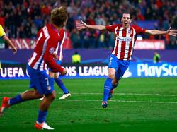 Diego Godín (r.) ist bei Atlético nicht wegzudenken
