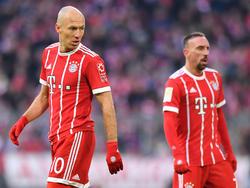 Gesichter des Erfolgs beim FC Bayern: Arjen Robben und Franck Ribéry