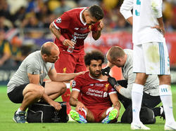 Mohamed Salah verletzte sich im Spiel gegen Real Madrid