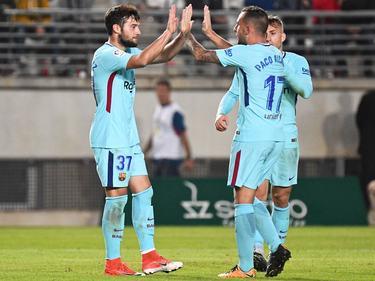 José Arnáiz y Paco Alcácer marcaron para el Barcelona. (Foto: Getty)