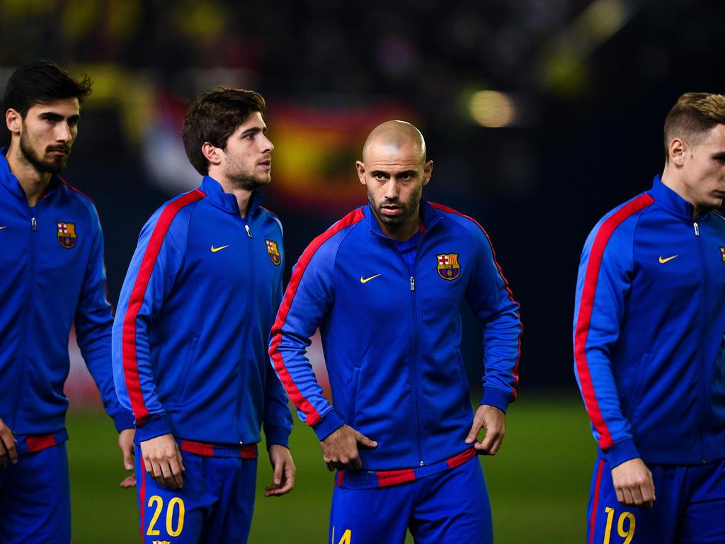 Angeblich Thema beim FC Liverpool: Barça-Profi Javier Mascherano (2.v.r.)
