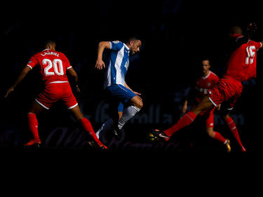 Javi Fuego con el Espanyol contra el Sevilla. (Foto: Getty)