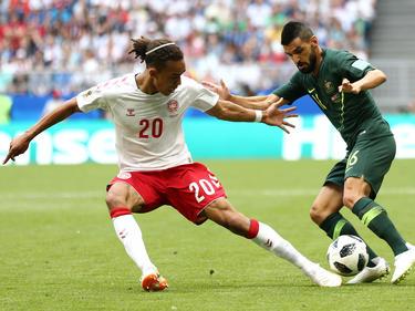 Erlebt bei der WM ein Auf und Ab: Dänemarks Bundesliga-Legionär Yussuf Poulsen