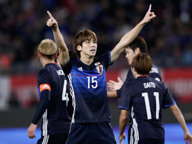Yuya Osako traf zweimal bei Japans 4:0-Sieg gegen den Oman