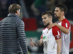 Baier (Mitte) droht eine Sperre durch das DFB-Sportgericht
