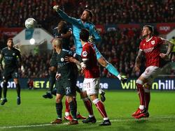 El Bristol nada puedo hacer ante el gigante de Manchester. (Foto: Getty)