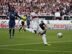 Daniel Ginczek traf kurz vor der Pause zum Ausgleich für den VfB