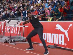 Leichtathletik-Superstar Usain Bolt besucht BVB-Fußballer