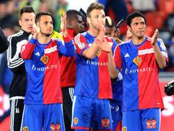 Die Spieler des FC Basel werden mit ihren Fans zur Party schreiten.