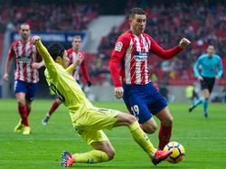 Hernández en un lance del juego contra el Getafe. (Foto: Getty)