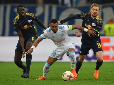Dimitri Payet (m.) stellte die Leipziger Defensive vor unlösbare Probleme