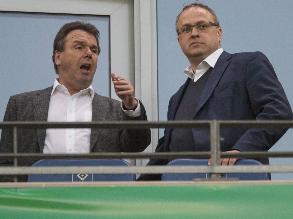 Die HSV-Bosse Bruchhagen (l.) und Wettstein arbeiten weiter am Aufschwung des HSV