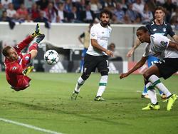 Oliver Baumann und die TSG kassierten eine 1:2-Niederlage gegen den FC Liverpool