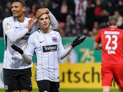 Haller (l.) und Gacinovic erzielten die entscheidenden Treffer für Eintracht Frankurt