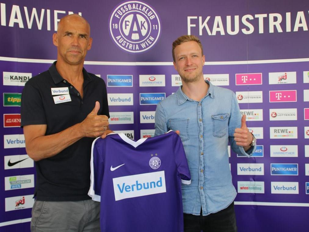 Maximilian Senft (r.) stößt als Verstärkung für den Trainerstab von Thomas Letsch zur Austria