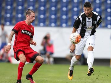 Die NV Arena kennt Adi Mehremić (rechts) schon von der Europa-League-Quali gegen Admira