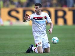 Lucas Alario wechselte vergangenen August von River Plate zu Bayer Leverkusen