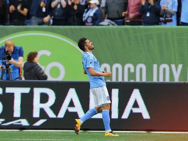 El delantero David Villa hizo los dos goles del New York City FC. (Foto: Getty)
