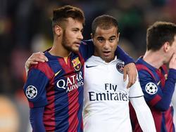 Lucas (r.) würde Neymar gerne in Paris sehen.