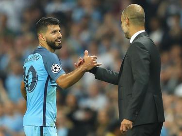 Arbeiten voraussichtlich länger zusammen: Agüero (l.) und Guardiola