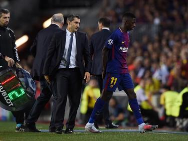 Trainer Ernesto Valverde kritisiert Ousmane Dembélé