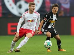 Auch gegen die Fohlen-Elf erfolgreich: Timo Werner (l.)