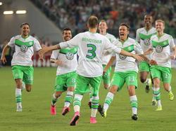 Bendtner marcó el empate y convirtió el penalti decisivo en la Supercopa alemana. (Foto: Getty)