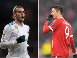 Garteh Bale und Robert Lewandowski (r.) könnten die Plätze tauschen