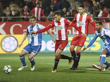 Stuani consigue su tanto en el área del cuadro gallego. (Foto: Imago)