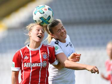 Leonie Maier (l.) konnte sich mit Bayern nicht gegen Jena durchsetzen