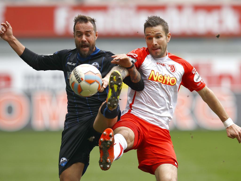 Sebastian Heidinger (l.) wird sich künftig für Kiel in die Zweikämpfe werfen