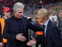 Sahen eine spannende Partie: Jupp Heynckes und Zinédine Zidane