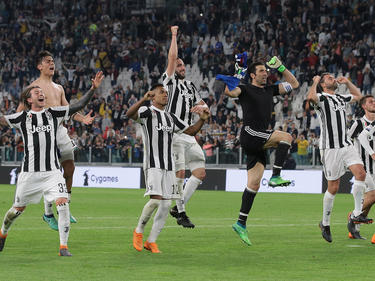 Los jugadores de la Juve celebran la victoria en casa contra el Bologna. (Foto: Getty)
