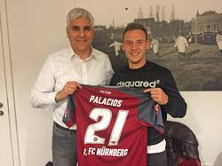 Federico Palacios wurde in Nürnberg vorgestellt (Bildquelle: Twitter @1_fc_nuernberg)