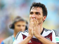 """Richtig platt"": Auch für Torschütze Mats Hummels war das Viertelfinale ein echter Kraftakt"