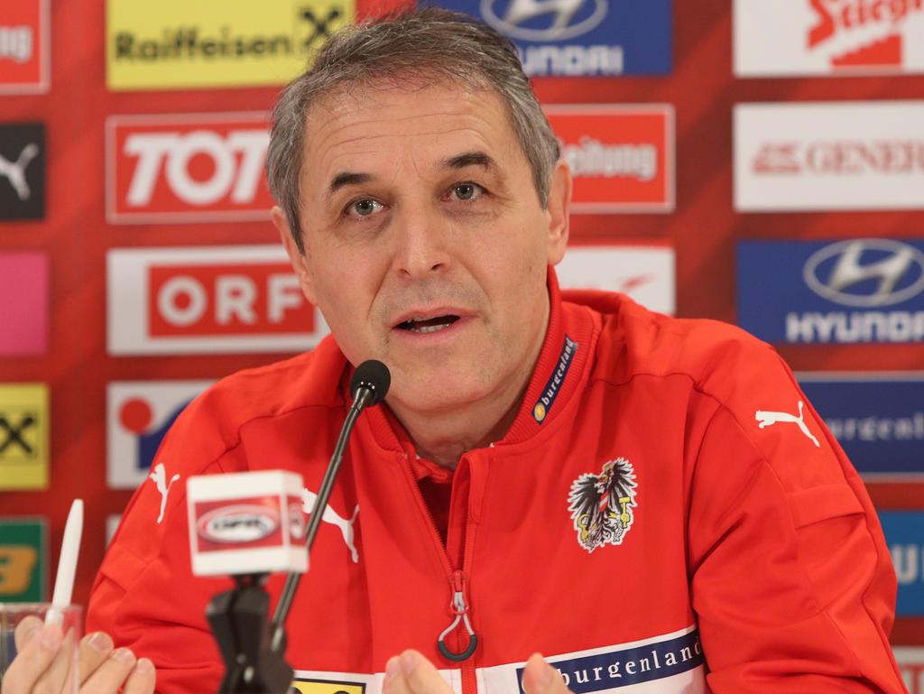 ÖFB-Teamchef Marcel Koller glaubt weiter fest an die Teilnahme an der WM in Russland
