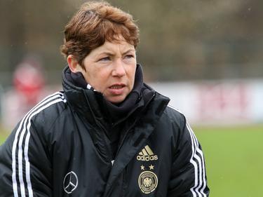 DFB-Trainerin Maren Meinert kann bislang mit ihren U20-Mädels zufrieden sein