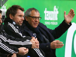 Bernd Hollerbach (l.) und Felix Magath (r.) arbeiteten in Wolfsburg zusammen