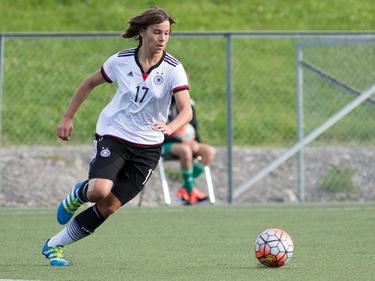 Lena Sophie Oberdorf erzielte den einzigen Treffer der DFB-Juniorinnen