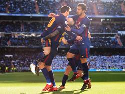El Barça volvió a ser superior al conjunto blanco en Chamartín. (Foto: Getty)