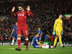 Mohamed Salah traf in dieser Saison auch gegen seinen Ex-Klub Chelsea