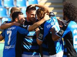 FSV-Jubel nach dem 1:0 - es folgen fünf weitere Treffer