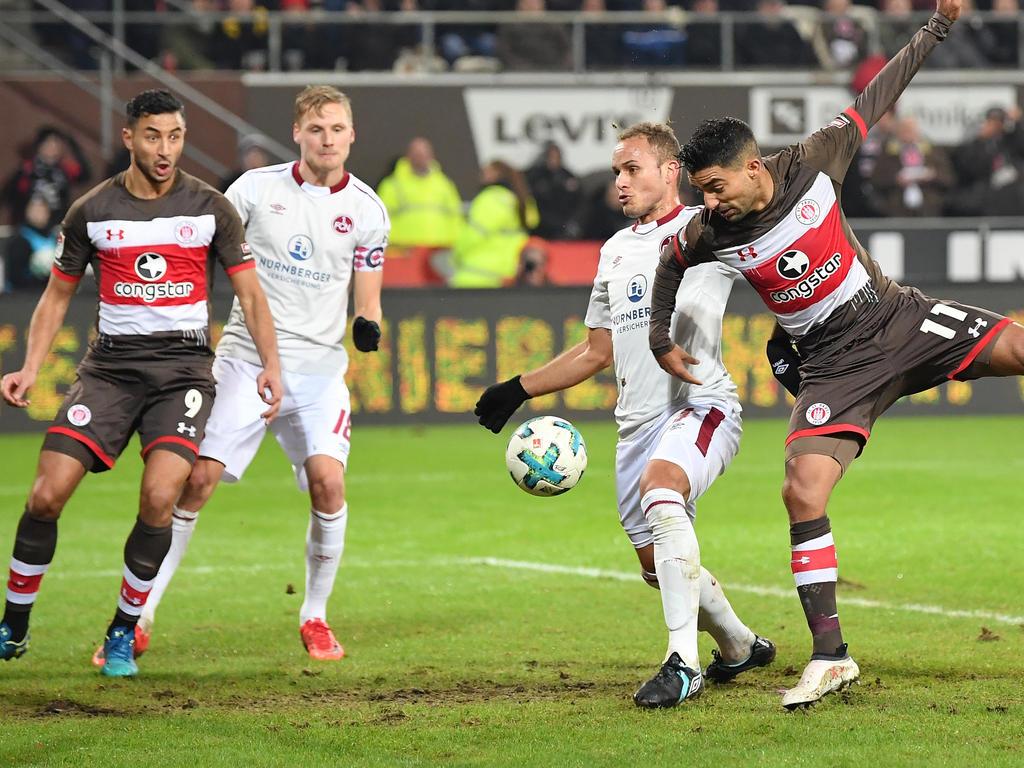 Kein Sieger zwischen dem FC St. Pauli und dem 1. FC Nürnberg