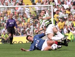 Billy Dodds (l., Rangers), Alan Stubbs (r., Celtic) (27.8.2000)