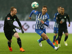 Gab gegen Wolfsburg sein Comeback: Herthas Julian Schieber (M.)