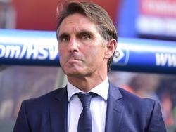 Bruno Labbadia blickte vor dem Spiel gegen Bayern skeptisch drein