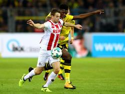Die Fans können das Bundesliga-Spiel zwischen dem 1. FC Köln und Borussia Dortmund im Fernsehen verfolgen