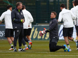 Bundestorwarttrainer Andreas Köpke erwartet Manuel Neuer zur WM auf dem Platz